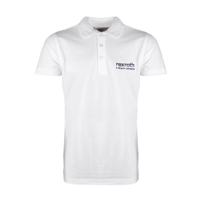 Poloshirt Men »Bosch Rexroth« - white